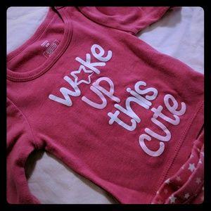 Woke Up This Cute Stars Matching Pajamas 9M